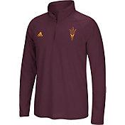 adidas Men's Arizona State Sun Devils Maroon Prime Logo Quarter-Zip Shirt