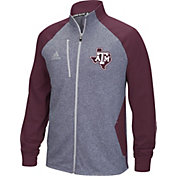 adidas Men's Texas A&M Aggies Grey/Maroon Fleece Track Jacket