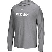 adidas Men's Texas A&M Aggies Grey 'Mark My Words' Hooded Long Sleeve Shirt
