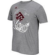 adidas Men's Texas A&M Aggies Grey Football Helmet T-Shirt