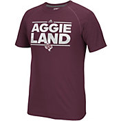 adidas Men's Texas A&M Aggies Maroon Nickname Short Sleeve T-Shirt
