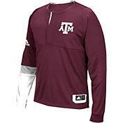adidas Men's Texas AM Aggies Maroon Shooter Long Sleeve Shirt