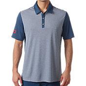 adidas Men's USA Heather Stripe Golf Polo