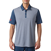 adidas Men's USA Heather Stripe Golf Polo