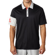 adidas Men's climacool Sleeve Block Golf Polo