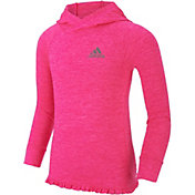 adidas Toddler Girls' On The Run Hooded Long Sleeve Shirt
