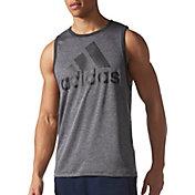 adidas Men's Contender Logo Graphic Sleeveless Shirt