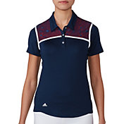 adidas Women's climacool USA Star Lace Golf Polo