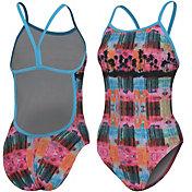 adidas Women's Printed Split Back Swimsuit