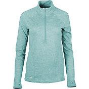 adidas Women's Advantage Heathered Half-Zip Golf Pullover