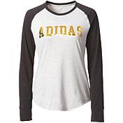 adidas Women's Metallic Graphic Long Sleeve Shirt