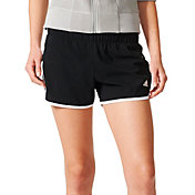 adidas Women's M10 Marathon Woven 3-Stripes Running Shorts