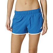 adidas Women's M10 Marathon Woven 3-Stripes Running Shorts