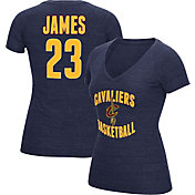 adidas Women's Cleveland Cavs LeBron James #23 Navy Tri-Blend V-Neck T-Shirt