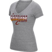 adidas Women's Cleveland Cavaliers Grey Tri-Blend V-Neck T-Shirt