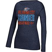 adidas Women's Oklahoma City Thunder Navy Long Sleeve Shirt