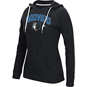 adidas Women's Minnesota Timberwolves Big Arch Black Fleece Crewdie