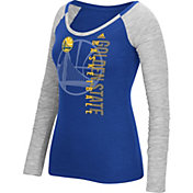 adidas Women's Golden State Warriors Scoop Neck Royal/Grey Long Sleeve Shirt