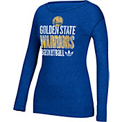 adidas Women's Golden State Warriors Royal Long Sleeve Shirt