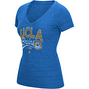 adidas Women's UCLA Bruins True Blue Distress V-Neck T-Shirt