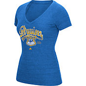 adidas Women's UCLA Bruins True Blue Scribble V-Neck T-Shirt