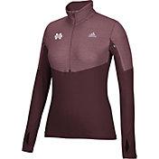 adidas Women's Mississippi State Bulldogs Maroon Long Sleeve Half-Zip Shirt