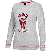 adidas Women's NC State Wolfpack Grey Slouchy Crew Sweatshirt
