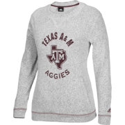 adidas Women's Texas A&M Aggies Grey Slouchy Crew Sweatshirt