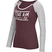 adidas Women's Texas A&M Aggies Maroon Double Bar Long Sleeve Shirt