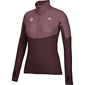 adidas Women's Texas A&M Aggies Maroon Long Sleeve Half-Zip Shirt