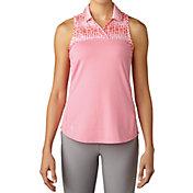 adidas Women's Merch Print Sleeveless Golf Polo