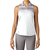 adidas Women's Merch Print Sleeveless Golf Polo