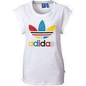 adidas Originals Women's Boyfriend Roll-Up Sleeve T-Shirt