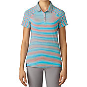 adidas Women's Double Stripe Golf Polo