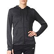 adidas Women's Team Issue Fleece 3-Stripe Full-Zip Hoodie