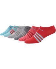 Adidas  mujer 's Superlite II no show calcetines atleticos 6 Pack Dick