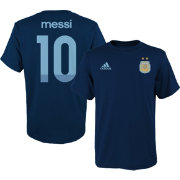 adidas Youth Argentina Lionel Messi #10 Navy Player T-Shirt