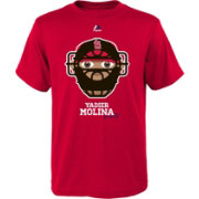 Majestic Youth St. Louis Cardinals Yadier Molina Emoji Red T-Shirt