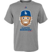 Majestic Youth Los Angeles Dodgers Clayton Kershaw Emoji Grey T-Shirt