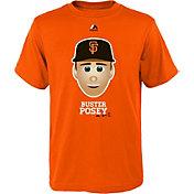 Majestic Youth San Francisco Giants Buster Posey Emoji Orange T-Shirt