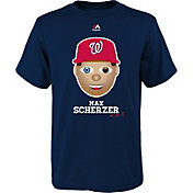 Majestic Youth Washington Nationals Max Scherzer Emoji Navy T-Shirt
