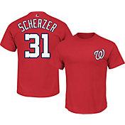 Majestic Youth Washington Nationals Max Scherzer #31 Red T-Shirt