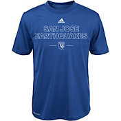 adidas Youth San Jose Earthquakes Authentic Performance T-Shirt