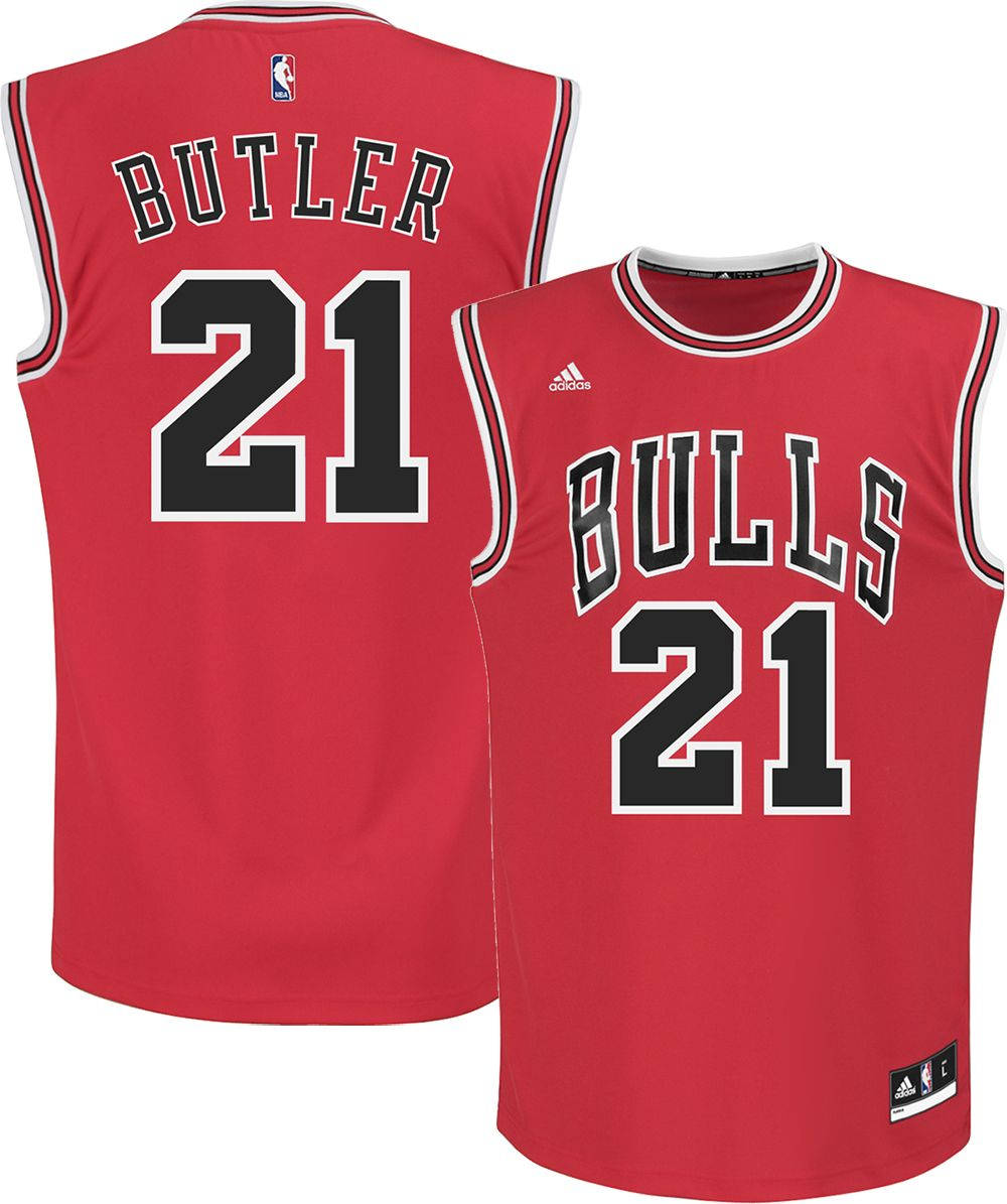 c9bac501 ... adidas Youth Chicago Bulls Jimmy Butler 21 Road Red Replica ...