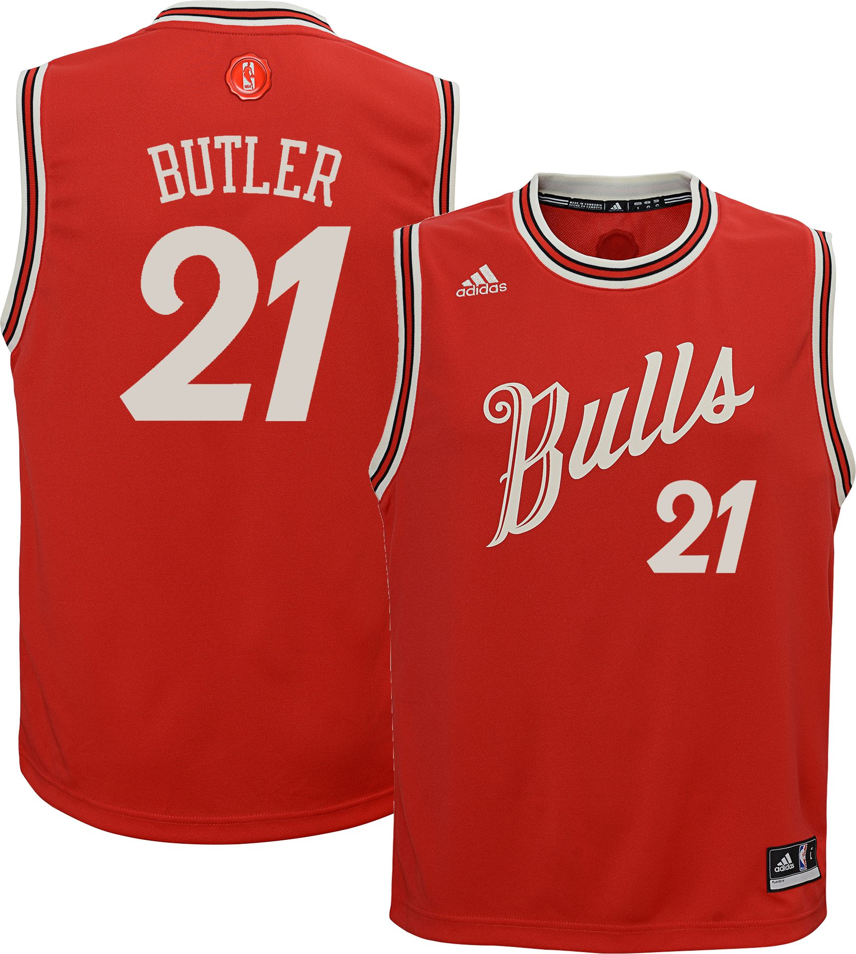 0630fab7 ... adidas Youth Chicago Bulls Jimmy Butler 21 Christmas Day Rep ...