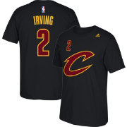 adidas Youth Cleveland Cavaliers Kyrie Irving #2 Black T-Shirt