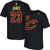 adidas Youth Cleveland Cavaliers LeBron James #23 Black T-Shirt