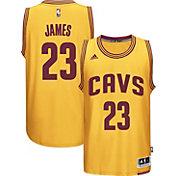 adidas Youth Cleveland Cavaliers LeBron James #23 Alternate Gold Swingman Jersey