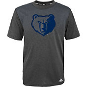adidas Youth Memphis Grizzlies climalite Grey Surface T-Shirt