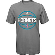 adidas Youth Charlotte Hornets climalite Grey T-Shirt